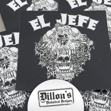 El Jefe Hand-Illustrated Sticker Artwork